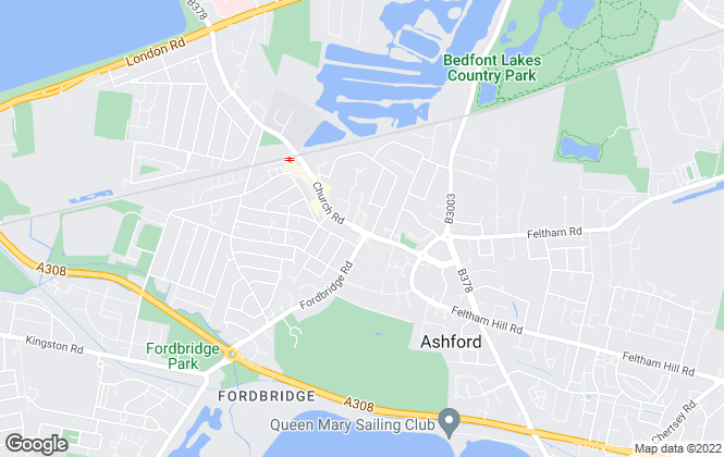 Map for Gregory Brown, Ashford