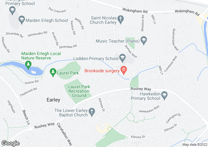 Map for Egremont Drive, Lower Earley, READING, Berkshire