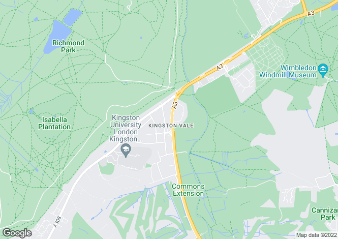 Map for Kingston Vale, London, SW15