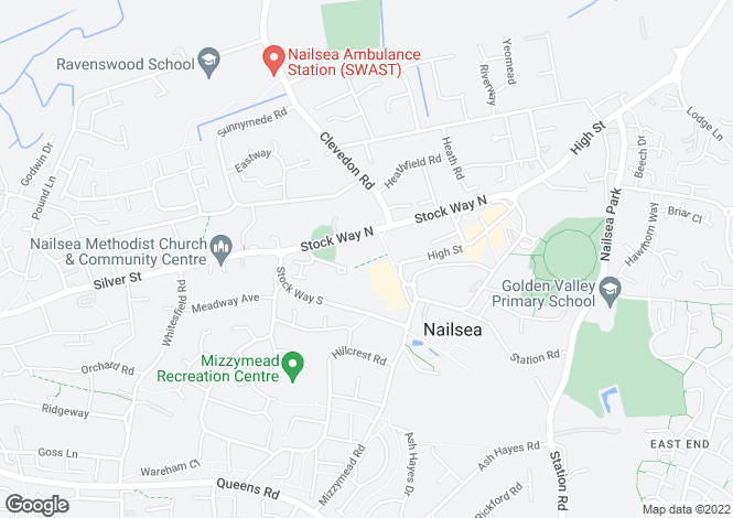 Map for Somerset Square, NAILSEA