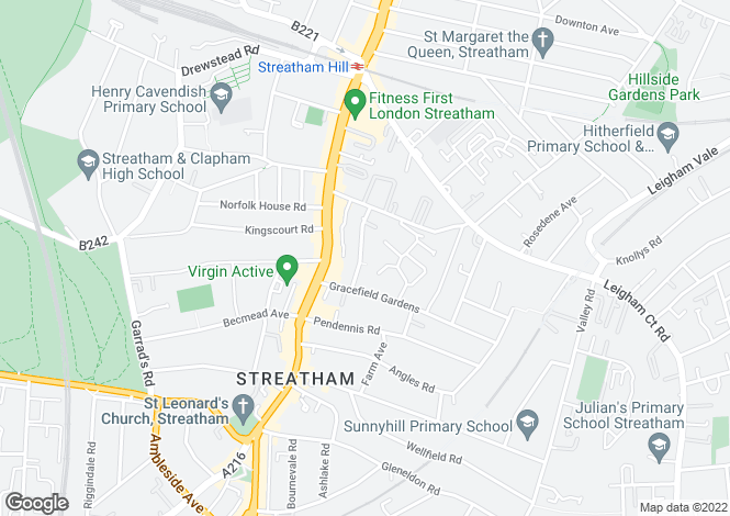 Map for Woodleigh Gardens, Streatham Hill, London, SW16