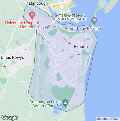 Map of property in Penarth