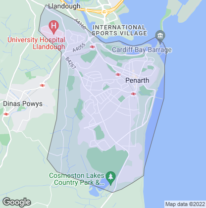 Map of property in Penarth