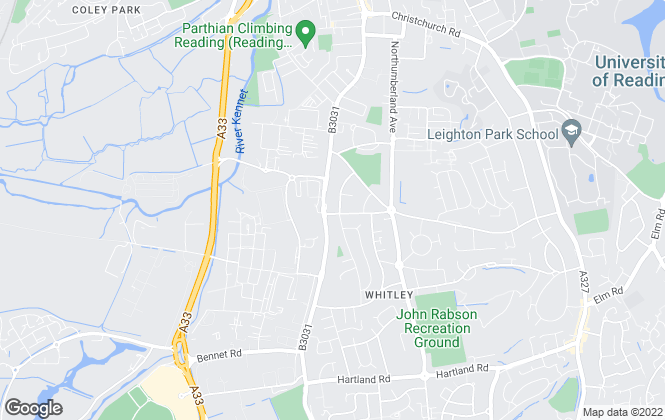 Map for Whiteknights Estate Agents, Reading