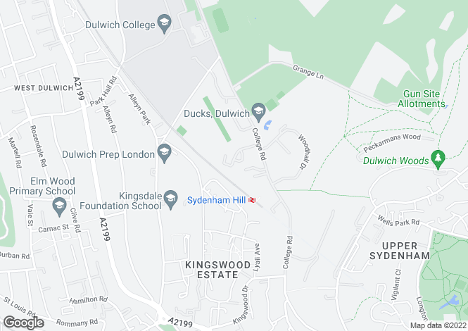 Map for Stonehills Court, Dulwich Village, SE21