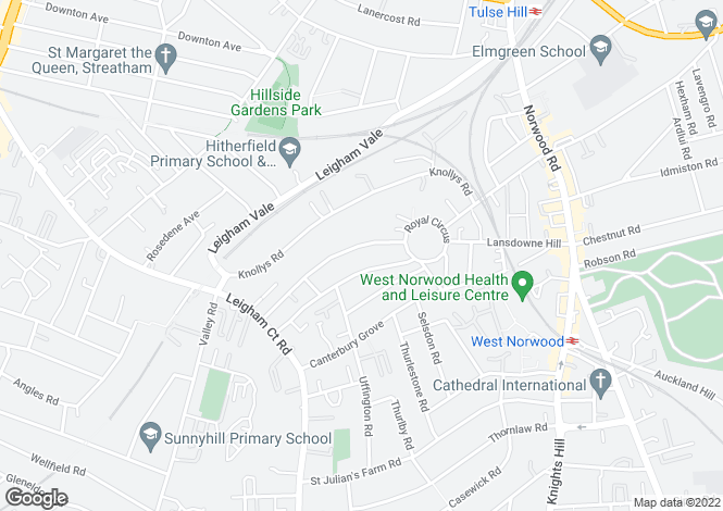 Map for Broxholm Road, West Norwood, SE27