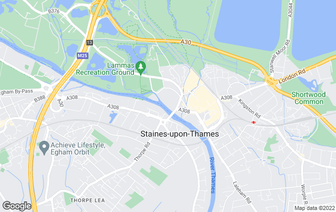Map for Hanover Housing Association, Staines-upon-Thames