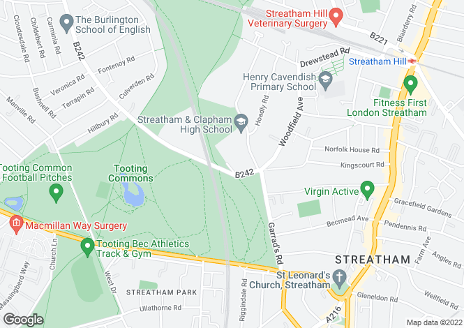 Map for The Spinney, Streatham, SW16