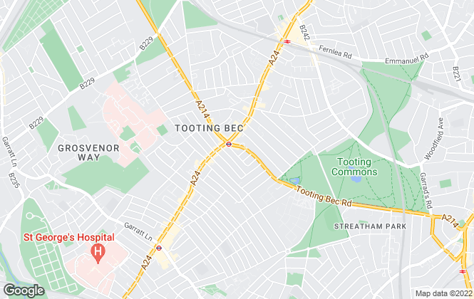 Map for Jacksons Estate Agents, Tooting