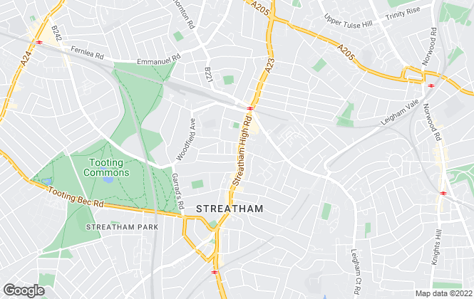 Map for Brooks Estate Agents, Streatham