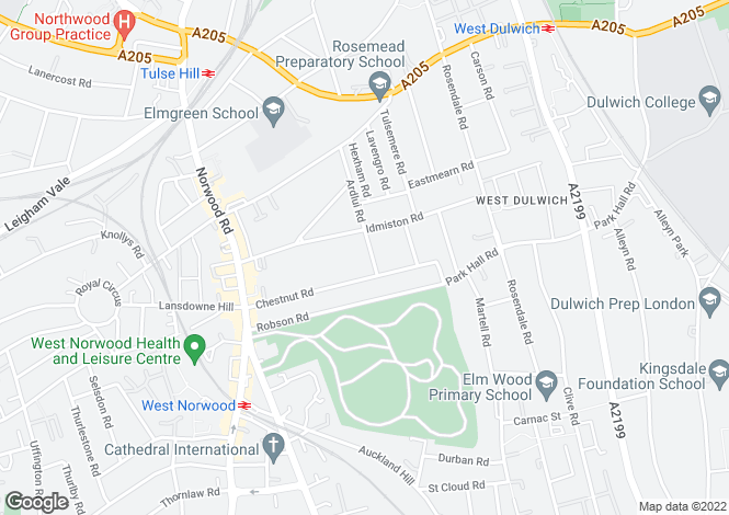 Map for Ardlui Road, West Norwood, SE27