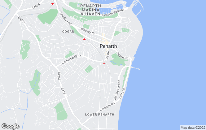Map for David Baker, Penarth