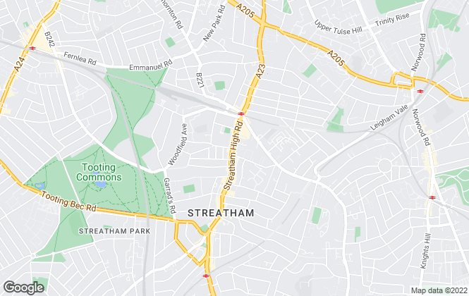 Map for Martin & Co, Streatham - Lettings and Sales
