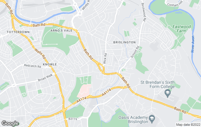 Map for Smartmove Estate Agents, Brislington