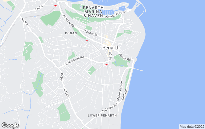 Map for ACJ, Penarth