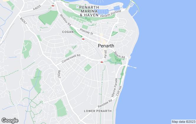 Map for ACJ, Penarth