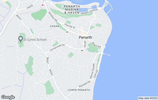 Map for Jones Estates, Penarth