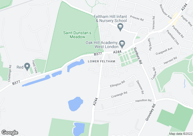Map for Chertsey Road, Feltham, TW13