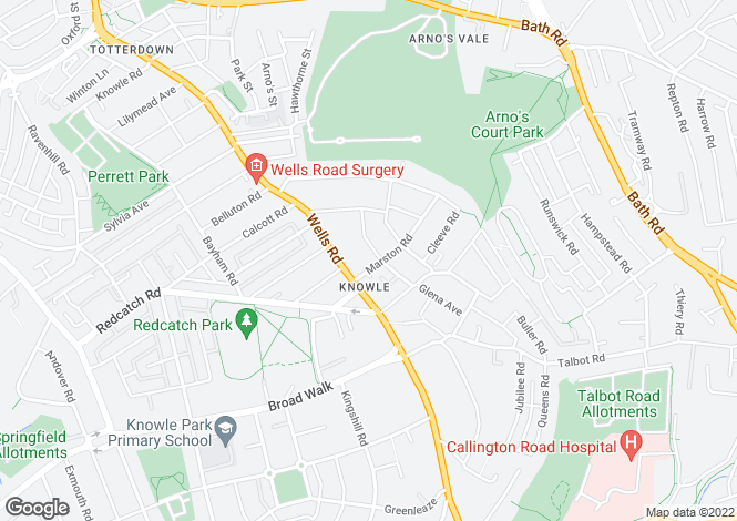 Map for Marston Rd - Knowle BS4