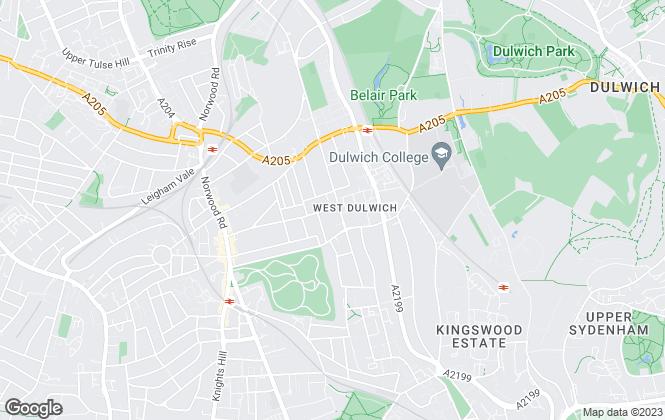 Map for Kinleigh Folkard & Hayward - Sales, West Dulwich