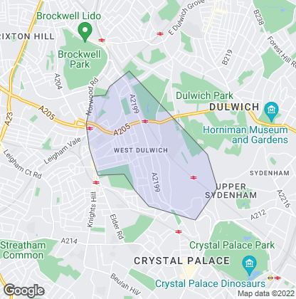 Map of property in West Dulwich