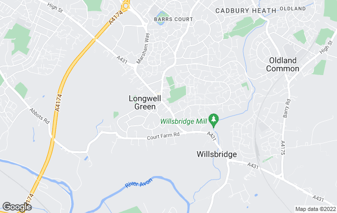 Map for Connells, Longwell Green