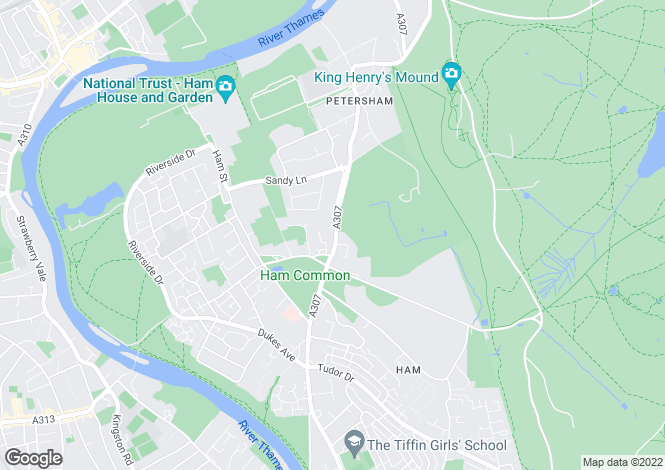 Map for Petersham Road, Richmond, TW10
