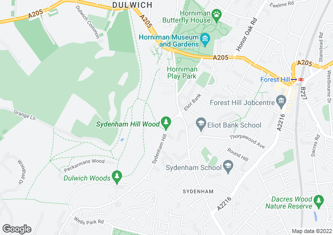 Map for Sydenham Hill, London, SE26