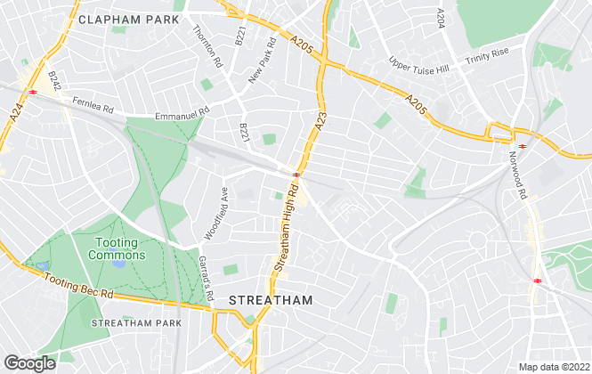 Map for Townends, Streatham