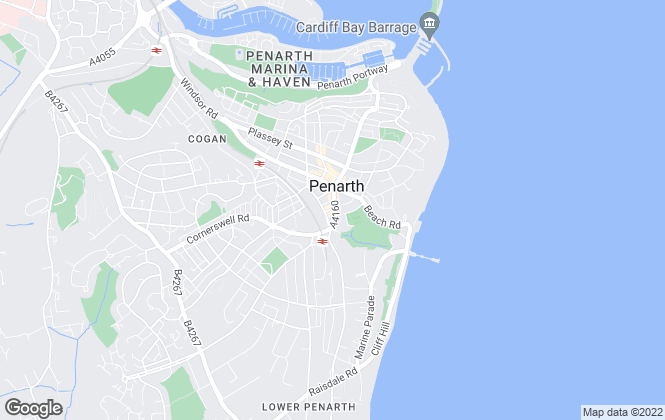 Map for Allen & Harris, Penarth