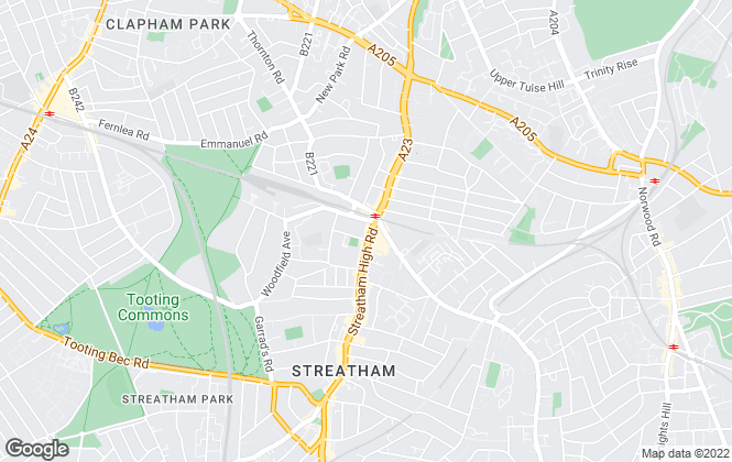 Map for Acorn, Streatham