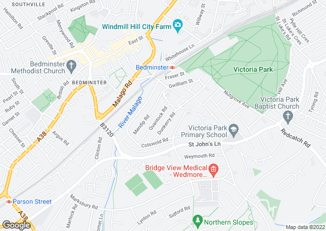 Map for QUANTOCK ROAD  WINDMILL HILL