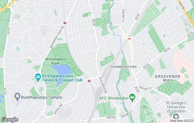Map for Willowbridge Estate Agents, South West London