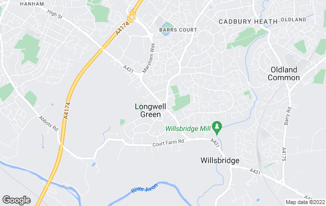 Map for Andrews Estate Agents, Longwell Green