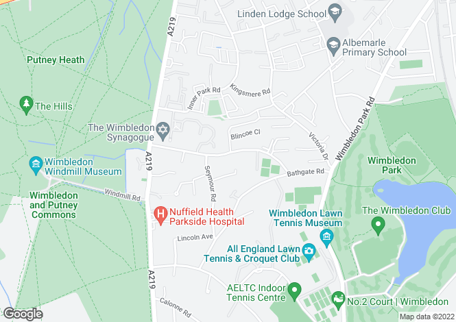 Map for Helix Terrace, Wimbledon