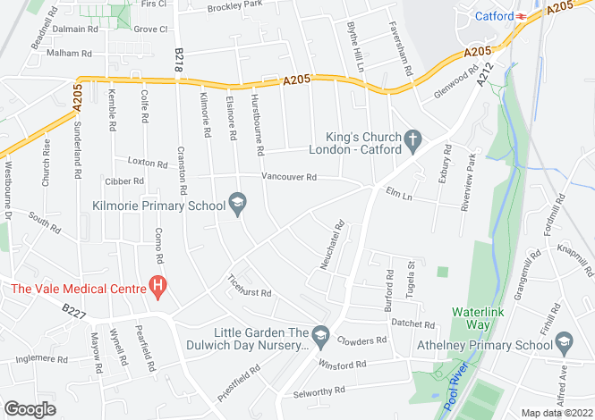 Map for Woolstone Road, Forest Hill SE23