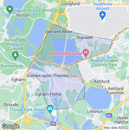 Map of property in Staines