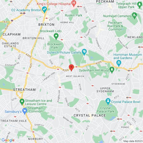 Location Map of Sue Anderson