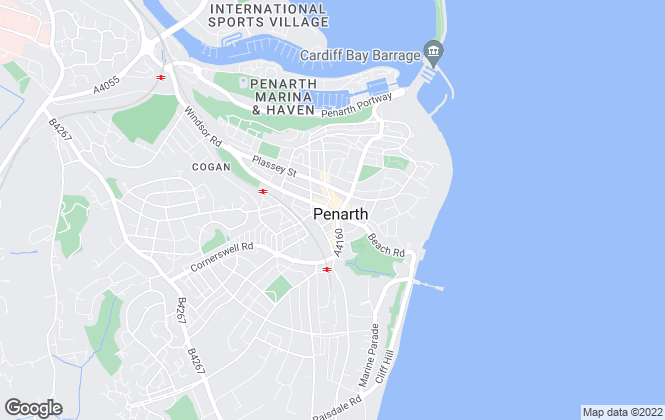 Map for Peter Alan, Penarth - Lettings