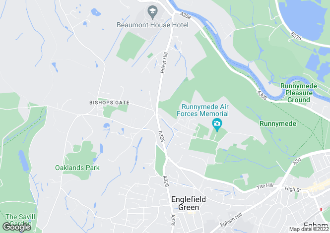 Map for Coopers Hill Lane Englefield Green