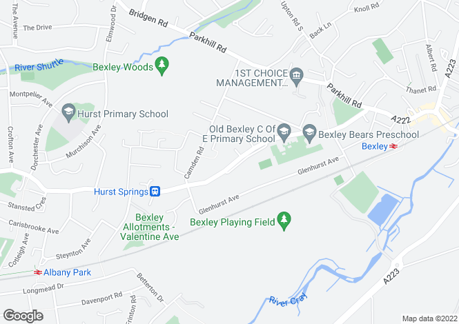 Map for Hurst Road,