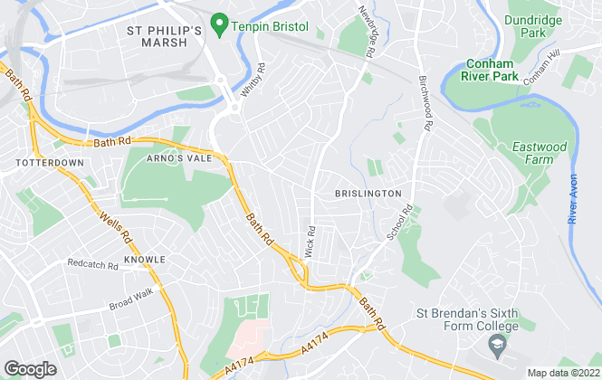 Map for Greenwoods , Brislington