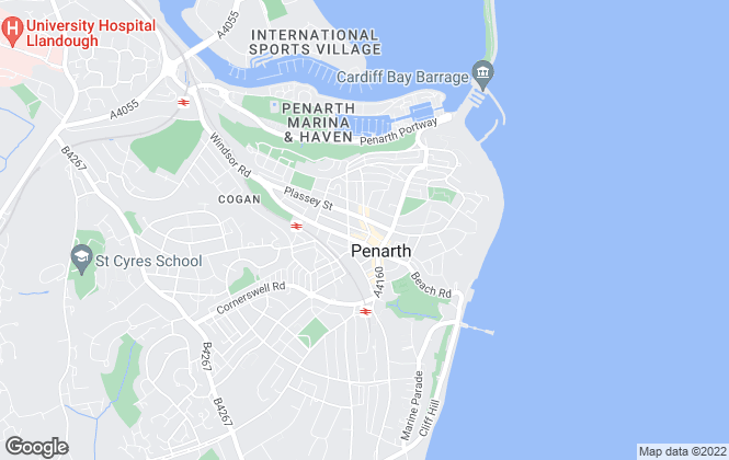 Map for Seabreeze Homes, Penarth