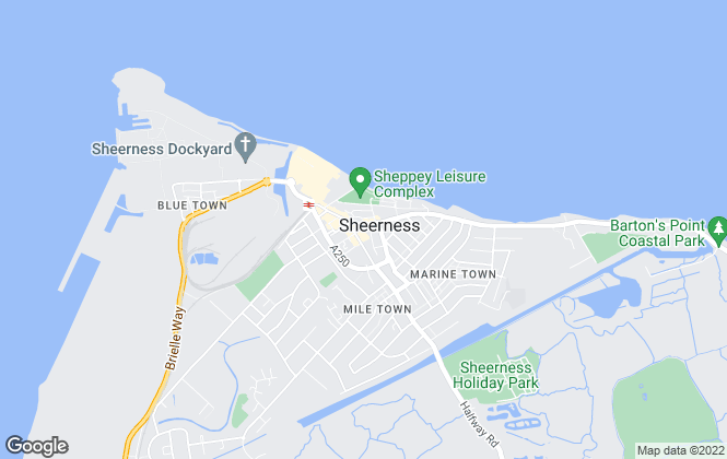 Map for Wards, Sheerness