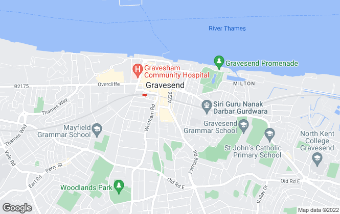 Map for Amax Estates Ltd Inc Home From Home, Gravesend