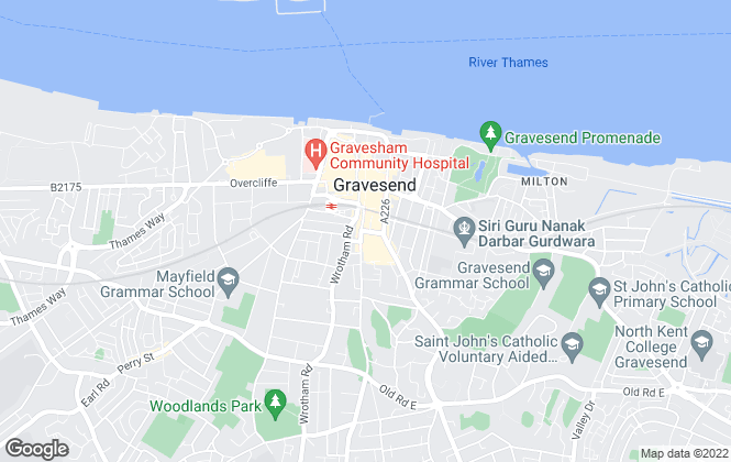 Map for Waterman House Estates, Gravesend