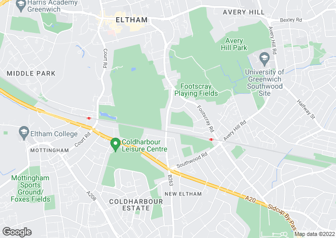 Map for Green Lane, New Eltham, London