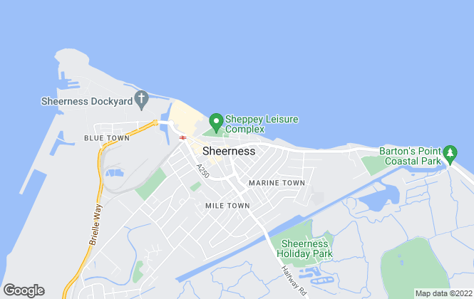 Map for Mann Lettings, Sheerness