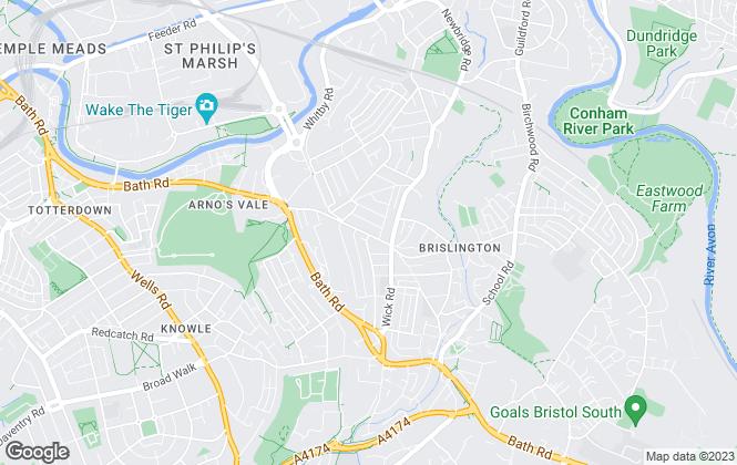Map for CJ Hole, Brislington