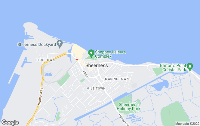 Map for Mann , Sheerness